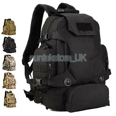 40L Tactical Military Backpack Detachable Rucksack Camping Hiking Trekking