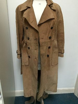 Vintage WETHERALL 1976 suede trench coat size 12
