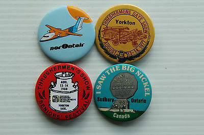 1970s & 1980s Canadian Pin Backs - norOntair, Sudbury & Yorkton