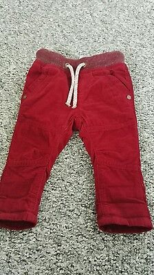 BABY Boys next elasticated waist cords 3-6 months :-) easy to pull on :)