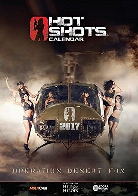 Hot Shots Calendar 2017 Pack (A4 Calendar, Playing Cards and 4 Posters)