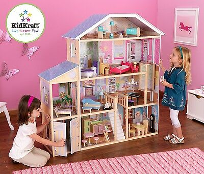 Kidkraft Majestic Mansion, Large Wooden Dollhouse with Lift fits Barbie Dolls