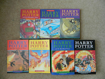 Complete set of 7 Harry Potter Books 2 1st Editions Bloomsbury 2 HB 5 PB