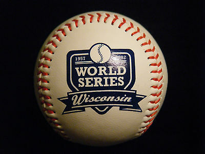 Wisconsin Milwaukee Braves Brewers World Series Leather baseball
