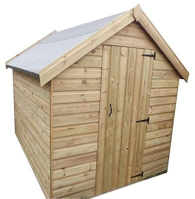 8x6 Wooden Garden Sheds, Pressure Treated Apex,FAST DELIVERY