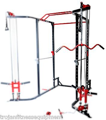 Power Rack Cable Cross Lat Attachment  ChinUp Monkey Bar Cable Cross Bench