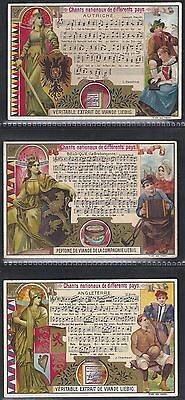 Liebig-*s0593*-Full Set Of 6 Cards- Belgium - National Anthems Ii (With Music)