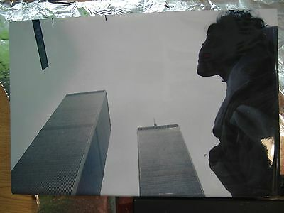 Negative photographic with Ufo, in photograph of buildings of Trade Center of NY