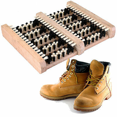 Heavy Duty Boot Scraper Shoe Brush Wellington Cleaner Outdoor Door Mat
