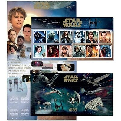 STAR WARS™ Presentation Pack 2015 AP409 Great Britain - Royal Post Stamp Limited