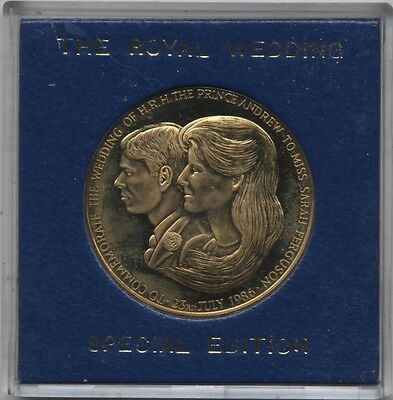 1986 Prince Andrew & Miss Sarah Ferguson Commemorative Wedding Medal*Collectors*