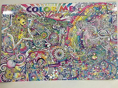 LISA FRANK Color Me Large Adult Coloring Book Posters 2016 Alien NEW