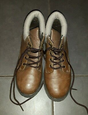 boys brown boots size 3