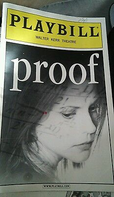 Playbill PROOF 1/18/2001 Mary-Louise Parker  Walter Kerr Theatre