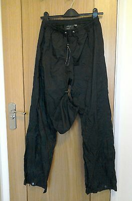Craghoppers Black Waterproof & Windproof Aqua Lite Trousers Size 12 R With Bag