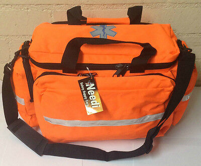 Home First Aid Medical Emergency Kit Storage Carry Duffle Bag - Neon Orange
