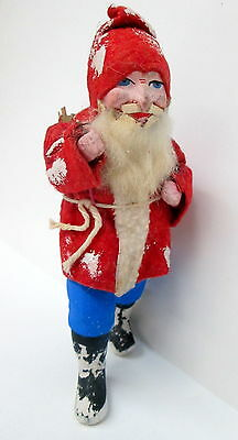 Santa Belsnickel  Figurine with Toy Basket - Germany - Composition Face
