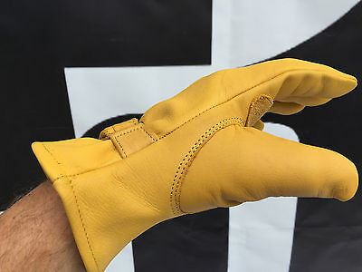 Top Quality Leather Motorcycle Glove Harley Davidson Bobber Chopper Cruiser