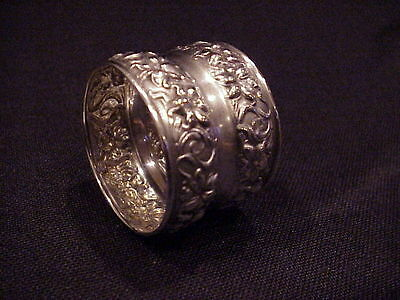 Antique Watrous Mfg Co Sterling Silver Napkin Ring