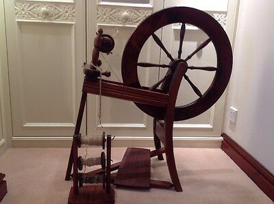 Ashford Spinning Wheel complete with spare bobbins and stand