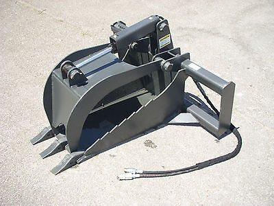 Bobcat Skid Steer Attachment - Heavy Duty Stump Tooth Bucket Grapple - Ship $149