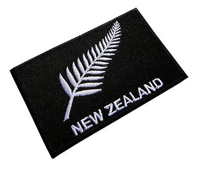 New Zealand The Silver Fern Flag Symbol Embroidered Iron on Patch Free Shipping