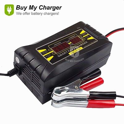 Auto 12V 10A Smart Fast Lead-acid Battery Charger for Car LCD Display 150~250V