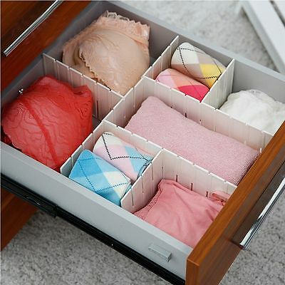DIY Household Grid Storage Organizer Plastic Drawer Separator  Divider