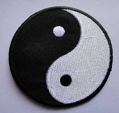 YIN YANG TAO DAO SYMBOL CHINESE Embroidered Iron on Patch Free Shipping