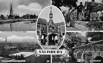 SALISBURY - 5 views with Poultry Cross in Centre