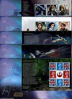 2015 GB Royal Mail  X5 Star Wars Prestige Book First Day Covers  Unaddressed