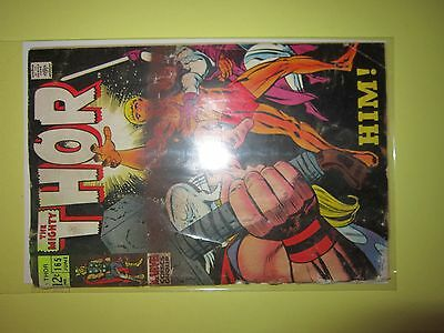 """Thor Issue # 165 Vintange Comic Book First Appearance of """"HIM"""" Warlock 1969"""