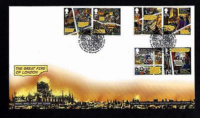 GB 2016 Royal Mail The great Fire of London  FDC Unaddressed