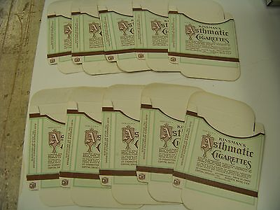 1933 Kinsman's Asthmatic Cigarettes boxes - new old stock