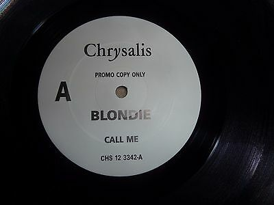 """Blondie, Call Me White Label Promotional 12"""" Single On Chrysalis."""