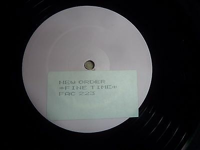 """New Order, Fine Time, Promotional 12"""" Single On Fac 223 ."""