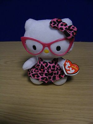 TY Hello Kitty Beanie With Glasses