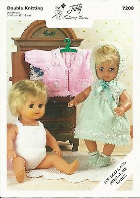 KNITTING PATTERN BABY DOLLS CLOTHES 12-22 inch / 31-56 cm DOLL OUTFIT