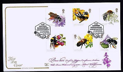 2015 GB Cotswold Bees Set Kenilworth Postmark First Day Cover Unaddressed