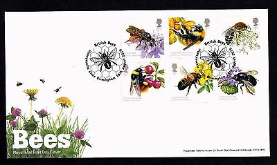 2015 GB Royal Mail  Bees Set  First Day Cover Unaddressed