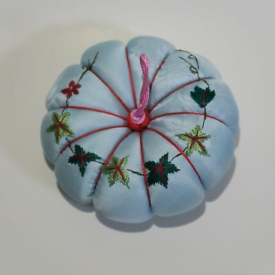 Handmade-Embroidery-Pin-Cushion-Embroidered-Needle-Grandma-Mother-Present-Gift