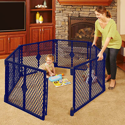 North States Superyard Classic 6-Panel Play Yard, Baby Portable Indoor-Outdoor