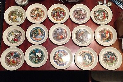 15 Wedgwood Children's Stories Plates