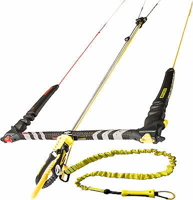 2016 Naish Fusion kite Control Bar w/Lines and Leash, Kitesurfing Kiteboarding