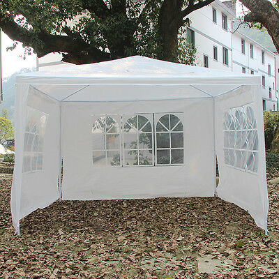 3m x 3m White Waterproof Outdoor Garden Gazebo Wedding Party Tent Marquee Canopy