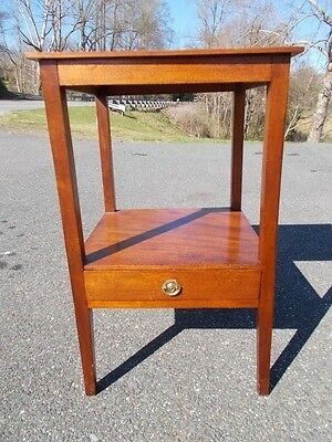 Antique Hepplewhite Stand ~ Hand Dovetailed Drawer ~ Late 1700s ~ Boston 18th C.