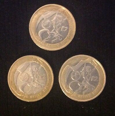 £2 Coin Commonwealth Games 2002, England, Scotland, Wales, Coins.