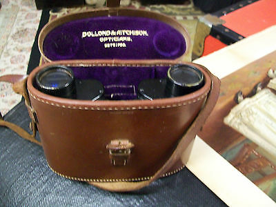 Dollond and Aitchison vintage binoculars in leather case