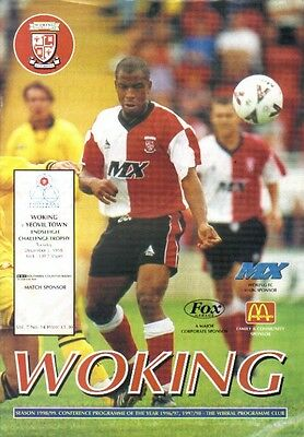Woking v Yeovil Town 01.12.98 League Cup