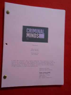 Script from the TV series Criminal Minds